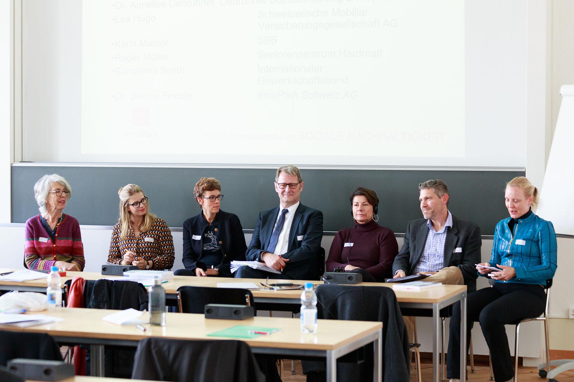 Annelies Debrunner, Lea Hugo, Karin Mahler, Roger Müller, Samantha Smith, Marco Styner, Denise Fessler