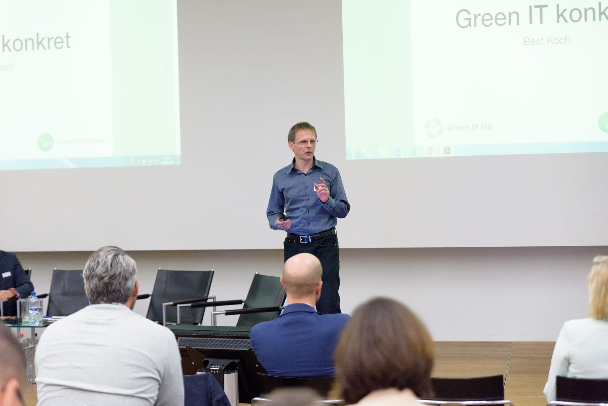 Dr.-Ing. Beat Koch, Mitglied Fachgruppe Green IT Schweiz und Geschäftsführer GreenITPLUS GmbH