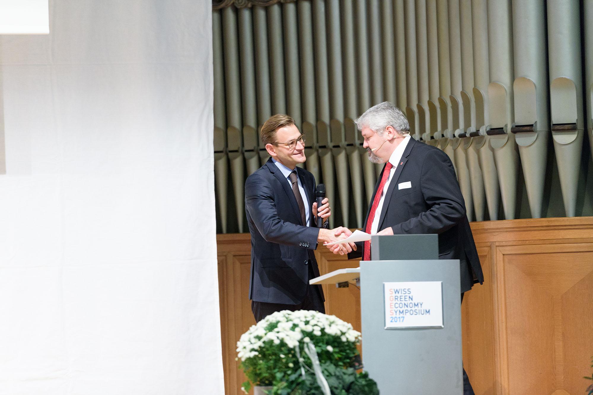 Dominique Reber, Stadtpräsident Michael Künzle