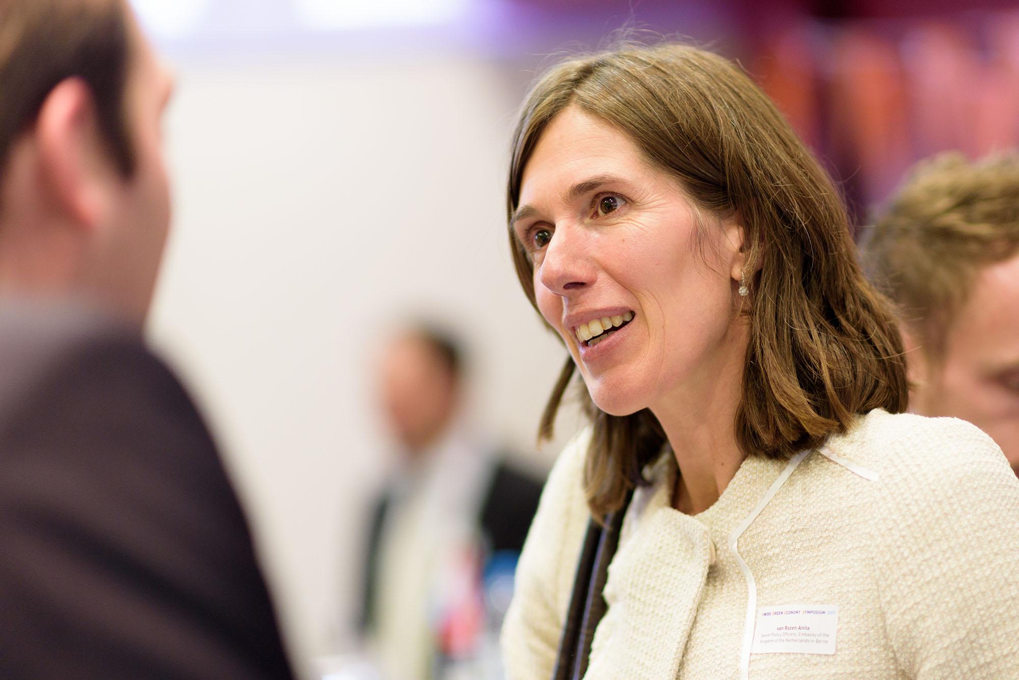 Anita van Rozen, holländische Botschaft in der Schweiz