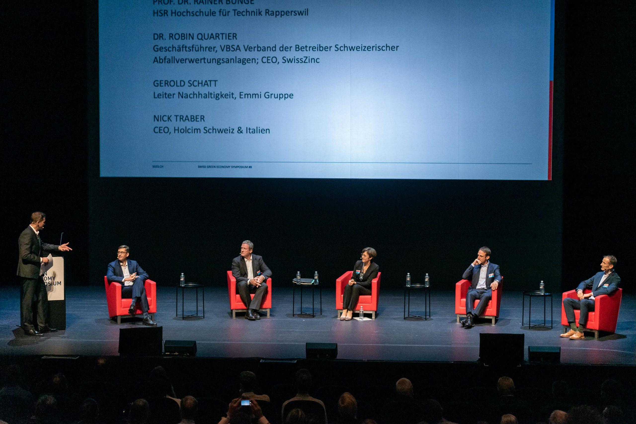 """Panel """"Ressourcen / Kreislaufwirtschaft: wie erreichen wir die Ziele?"""""""