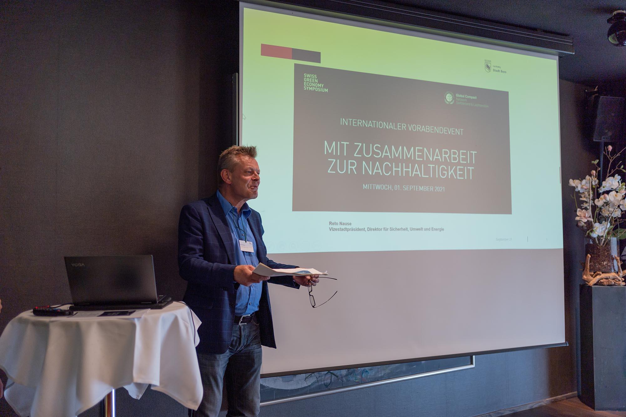 Vorabend: Reto Nause, Vize-Stadtpräsident und Direktor für Sicherheit, Umwelt und Energie, Stadt Bern
