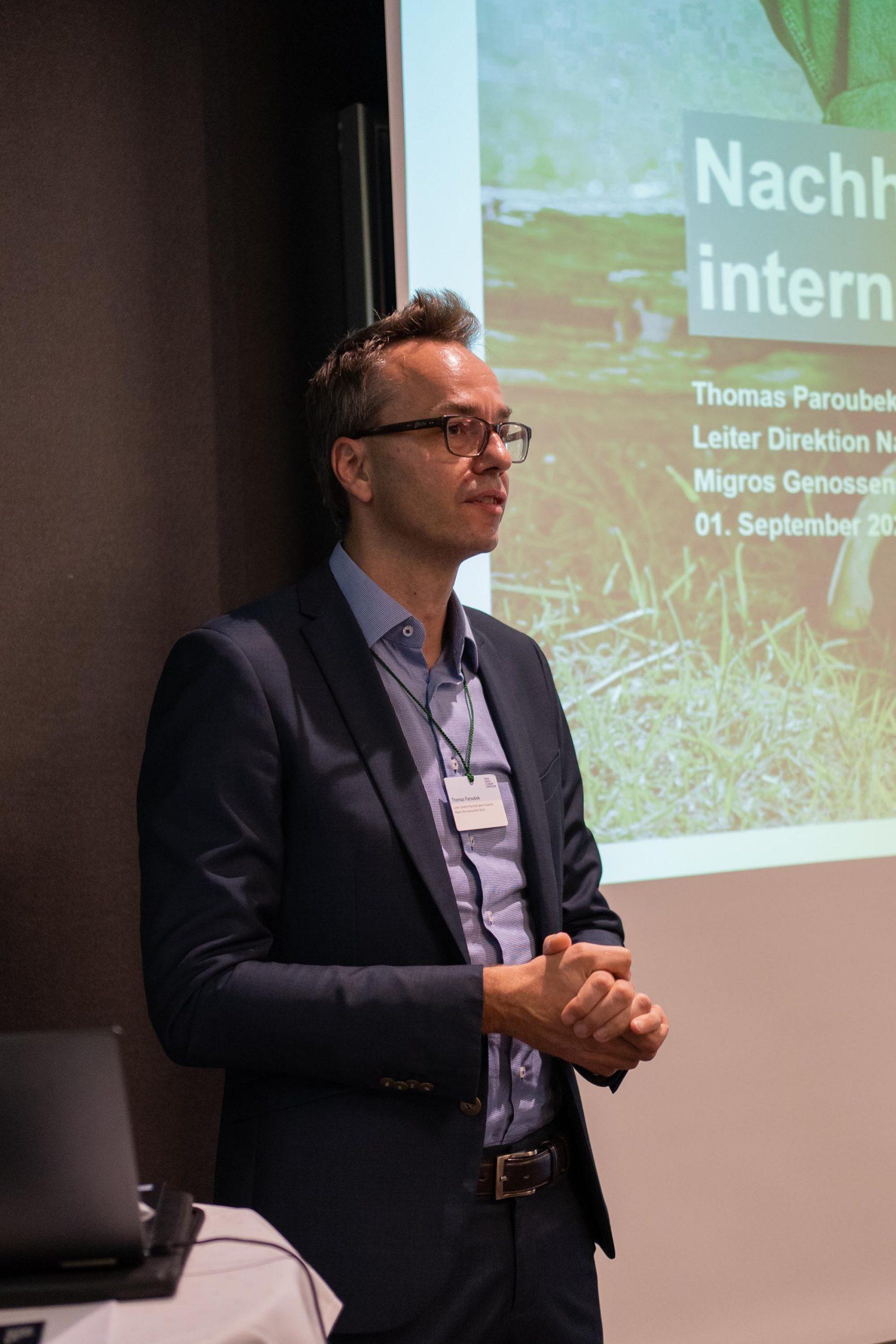 Vorabend: Thomas Paroubek, Leiter Direktion Nachhaltigkeit & Qualität, Migros-Genossenschafts-Bund