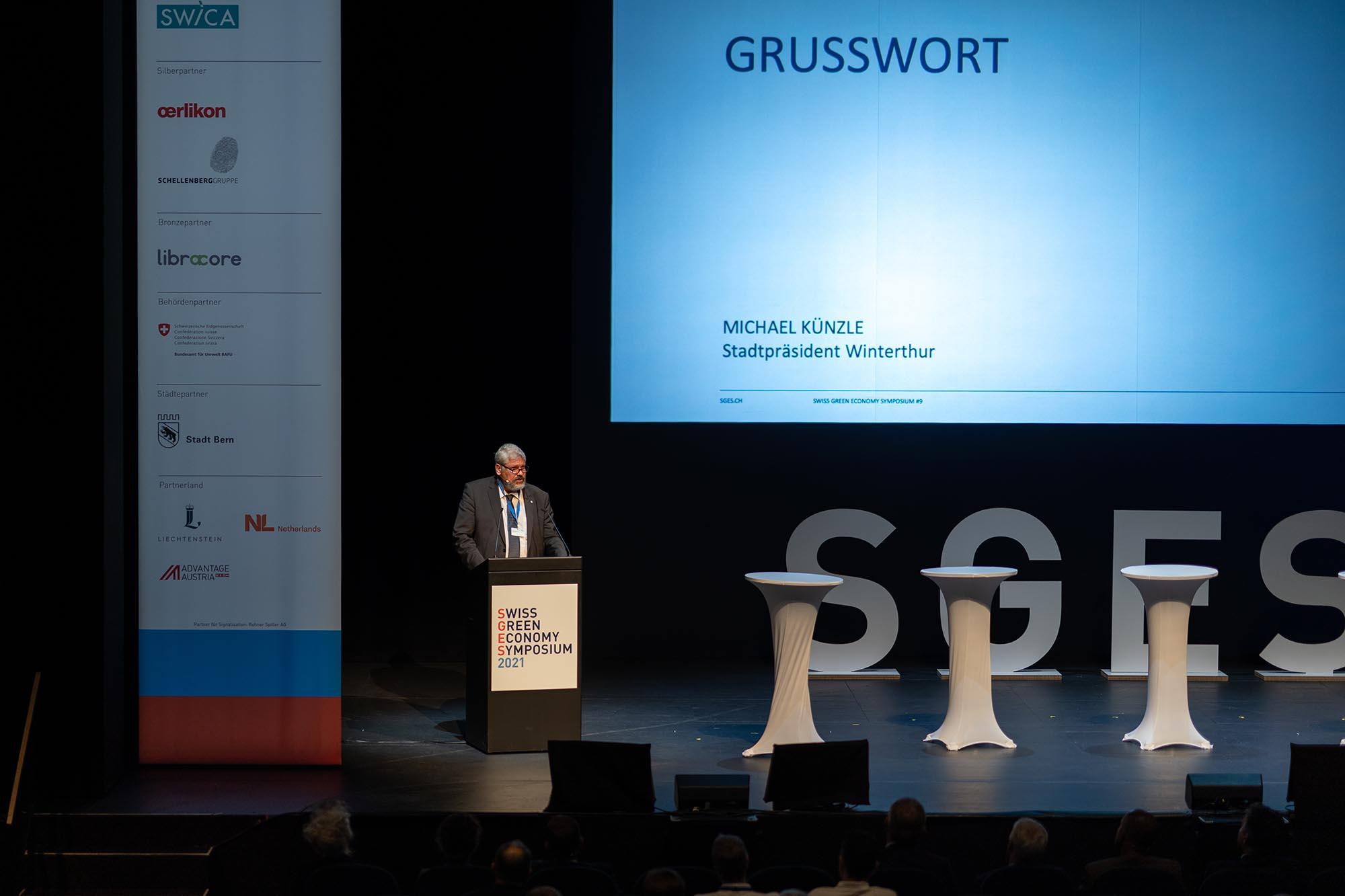 SGES Grusswort: Michael Künzle, Stadtpräsident Winterthur