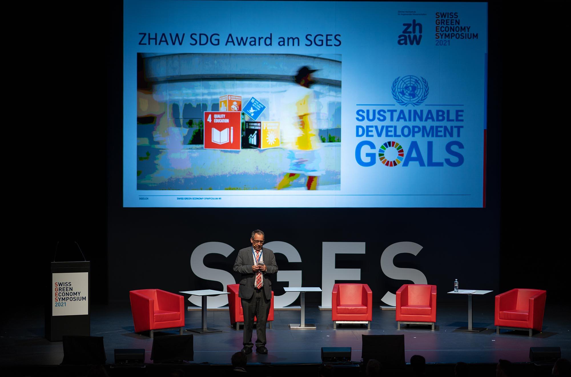 SGES SDG Award: Prof. Dr. Jean-Marc Piveteau, Rektor ZHAW