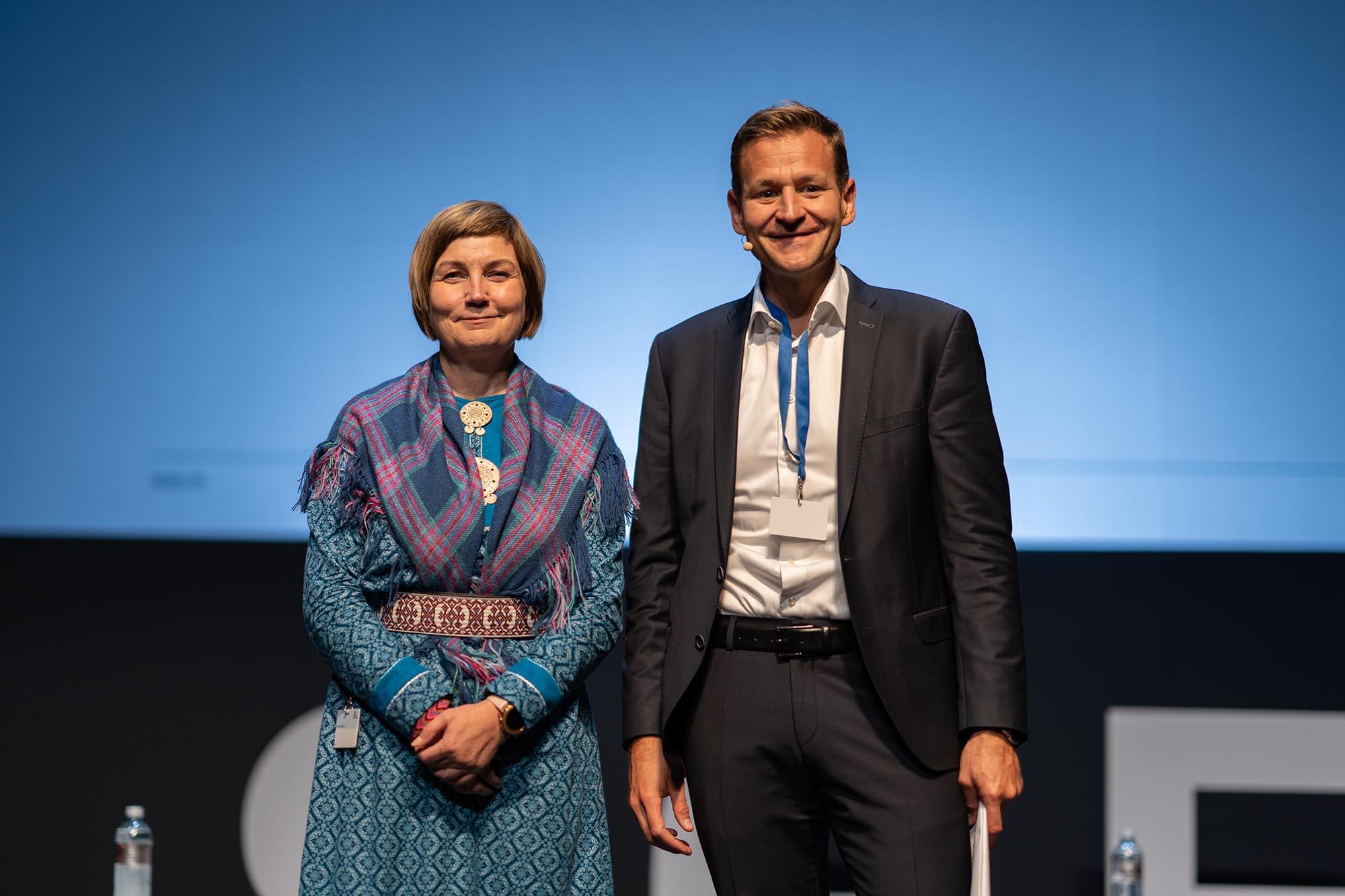 SGES Keynote: Aili Keskitalo, President of the Sami Parliament; Dominique Reber, Partner, Hirzel.Neef.Schmid.Konsulenten; Mitglied Beirat SGES