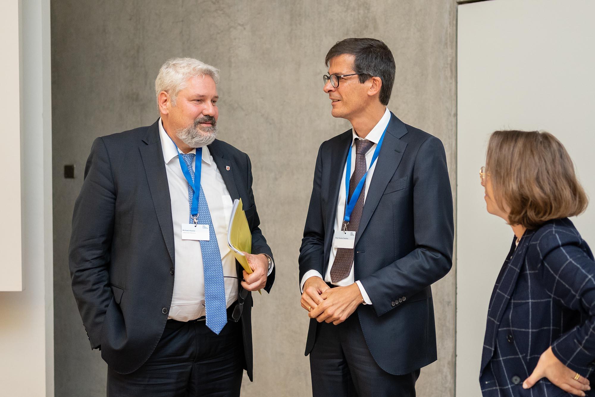 SGES Abschluss: Michael Künzle, Stadtpräsident Winterthur; Prof. Vicente Carabias, Leiter, Fachstelle Smart City Winterthur